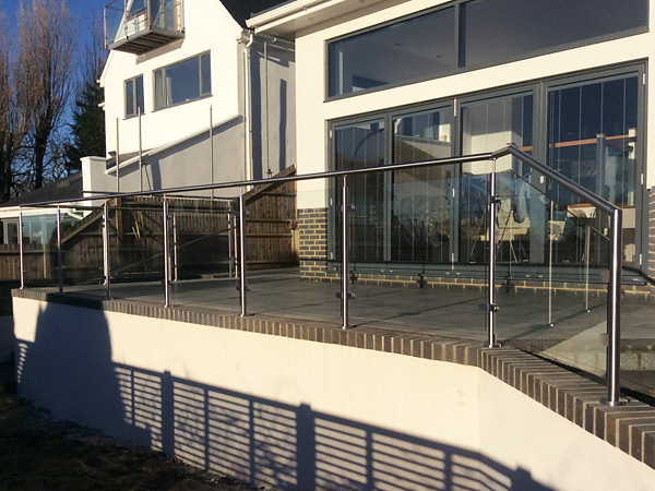 Patio Railings in Sandgate